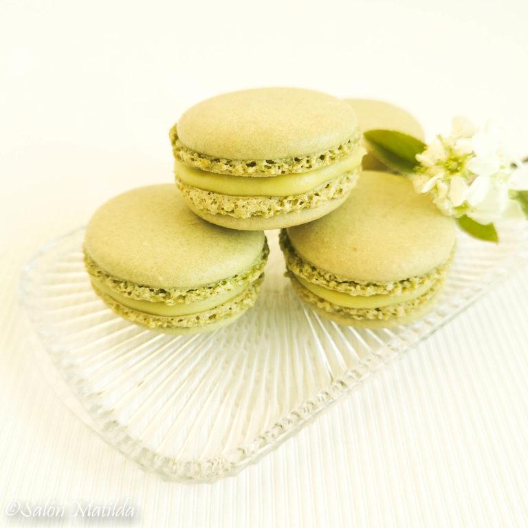 Matcha Macarons, Avocado, Lemon Curd