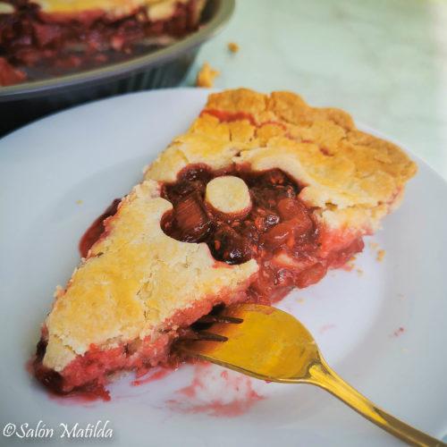 Rhabarber Pie, Himbeeren, Experiment