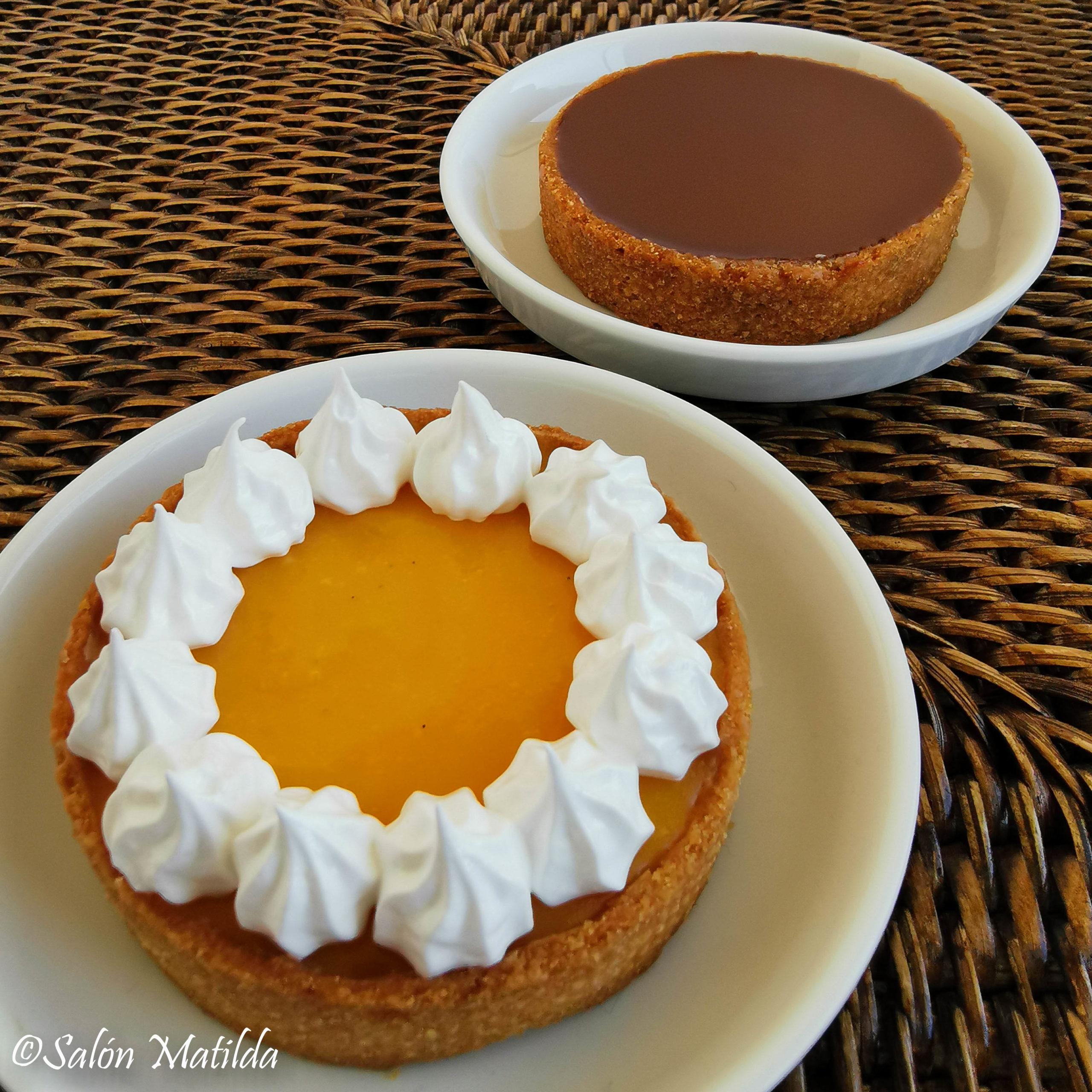 Tartelettes, Passionsfrucht, Schokolade